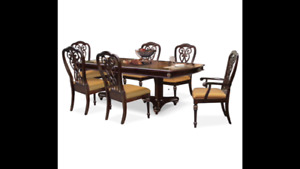 6 seat extendable dining room set