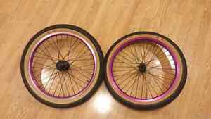 Bmx wheels with odyssey tires