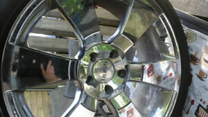 "20""  Chrome Boss Rims Set of 4 with tires"