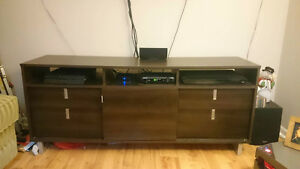 "VERY GOOD CONDITION TV STAND, FITS 60"" TV"