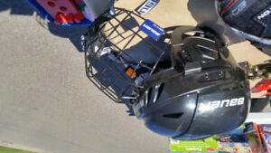 Casque hockey avec grille bauer ( enfant)