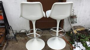 High Back Stools or Chairs Crisp White Strathcona County Edmonton Area image 2