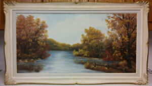 Old listed artist Rose Schul-Lenhardt (1922-2010) oil painting