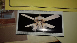 Casablanca Ceiling Fan with Lights, Never used