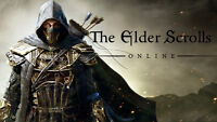 TWO copies of Elder Scrolls Online with  characters