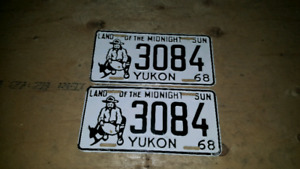 Buying old Yukon and NWT License Plates