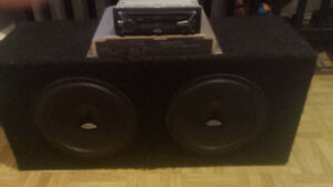 "2 10""  Subs and Kenwood Amp"