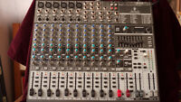 BEHRINGER XENYX 1832 EFX mixing console AND 6 CHANNEL SNAKE