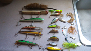 Assortment of fishing lures