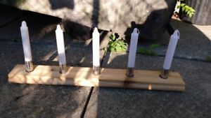 upcycled long tea light or taper candle holder