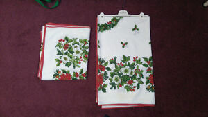 Christmas Table Cloth - two sizes - excellent condition
