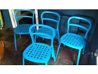 Set of 4 Ikea garden chairs