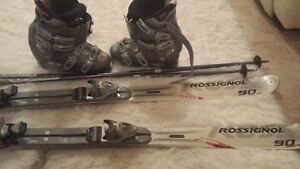 Rossignol skis with Nordica boots