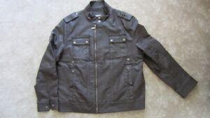 Manteau de cuir brun pour hommes Aria