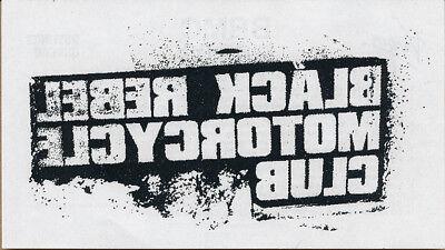 Black Rebel Motorcycle Club Take Them On...RARE iron on transfer '03