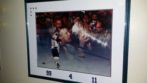 Rare signed Edm Oilers Montage