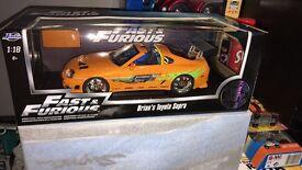 1.18 scale F&F Toyota Supra