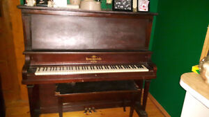 1922 VINTAGE HEINTZMAN AND CO. UPRIGHT GRAND PIANO