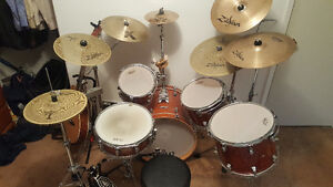 Taye Tour Pro 5 Pc w/ Lots of Cymbals and Drum Gear!