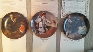 Norman Rockwell Heritage Collection limited edition plates