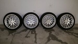 SET OF 4 WHEELS AND TIRES