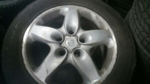 4 x Original Porsche Cayenne mag wheels with winter tires