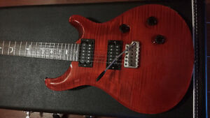 Perfect 2006 USA PRS Custom 24 with10Top Trans Red-with Coa+Case