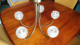 Ceiling brass light chandelier 5 arms