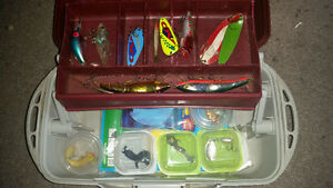 Flambeau Outdoors fishing tackle box with goodies only $35......