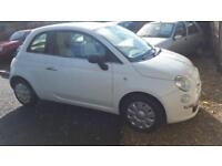 Fiat 500 1.2 POP 2008 1.2 LTR PETROL MANUAL free motoring for cost 12 mths Inc