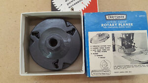 Craftsman Carbide Tipped Rotary Planer For Radial Arm Saw