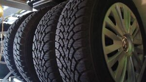 llike new snow tires from vw golf