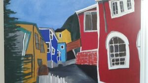 abstract painting of St.John's Battery