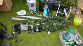 Job lot of filters lighting all pipe work