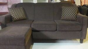 Sofa 6 Seater 3 Pieces with 2 Ottaman