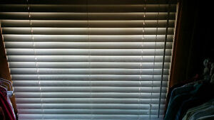 Exclusive Levolor horizontal ivory wood blinds...