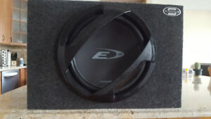 "Alpine 12"" sub woofer and Bazooka amplifier"