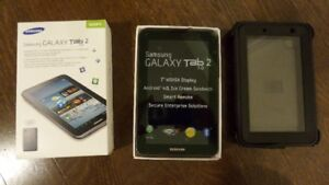 Like new in box Samsung Galaxy Tab 2 7.0 with Rear and Front cam