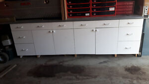 Base cabinets with countertop