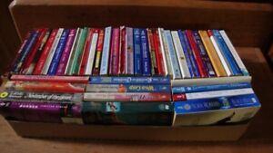 A box lot of 43 Romance Novels