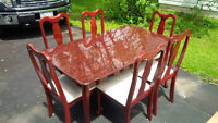 FORMAL DINING SET - TABLE & 6 CHAIRS -LIKE NEW -DELIVERY