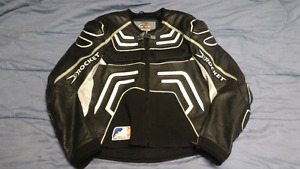 Black JOE ROCKET motorcycle jacket leather XL $100firm