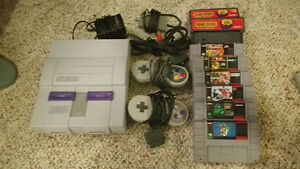 Super Nintendo SNES System and Games and Controllers