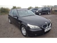 BMW 525i TOURING ESTATE - BLACK WITH BLACK LEATHER 1 OWNER FROM NEW 6 SPEED MANUAL. 530 330 520i