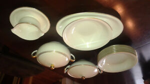 Furstenburg dinnerware . Gold rimmed and numbered