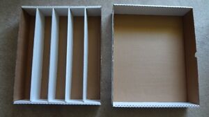 New B & W 5000 Count Sports Card Storage Boxes