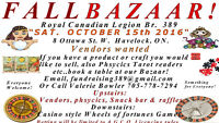 Fall Bazaar a couple of spaces still available