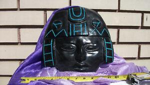 6,6 pounds sculpted obsidian mask stone Aztec Maya shaman