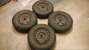 195/60R15 Winter Tires on Steel Rims for 4 bolt pattern