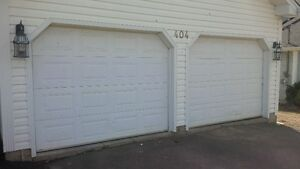 2 Used garage doors and motors to sell quick